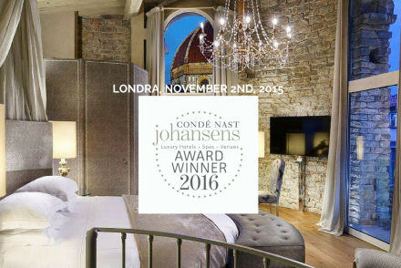 Primo premio Condé Nast Johansens Awards 2016 all'Hotel Brunelleschi!